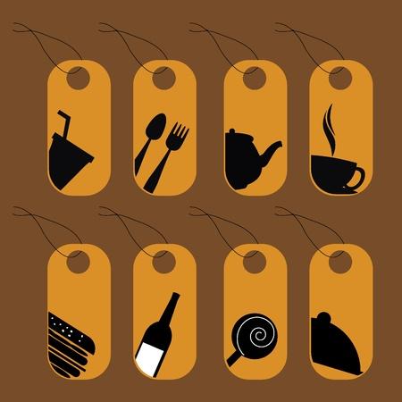 alimentos y bebidas de los iconos para restaurantes, bares y otros