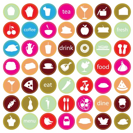 food and drinks icons for restaurant, bars and others Vector