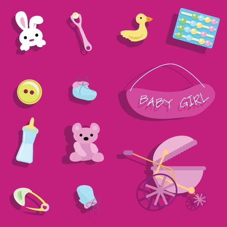 baby stuff for baby arrival, newborn, celebration and others Stock Photo - 13229571