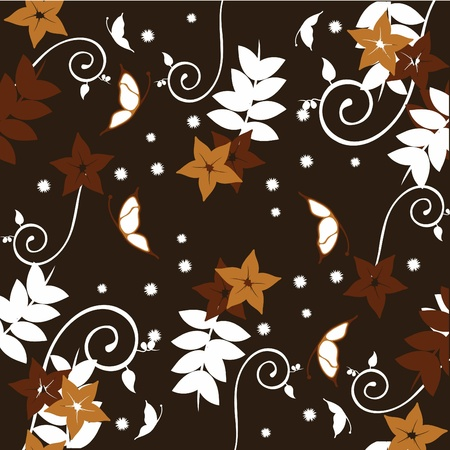 floral patterns for wallpaper, curtains, present paper and others photo