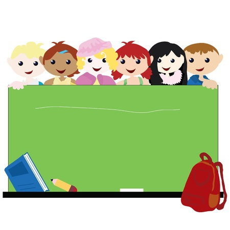 cartoon children background for children, school, education and others Illustration