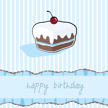 happy birthday cup cake card for birthday, party, fun and greeting card Stock Vector - 13919075