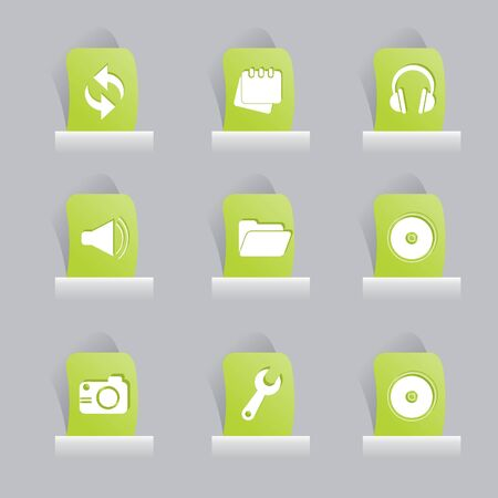 office stuff: web icons set for items, buttons and office stuff
