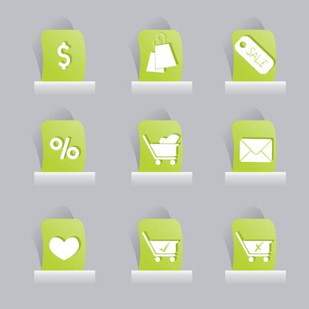 web icons set for items, buttons and office stuff Stock Vector - 13919079