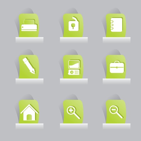 web icons set for items, buttons and office stuff Vector