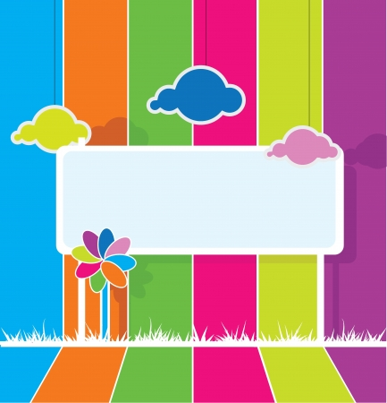 colorful billboard background for kids or fun theme Illustration