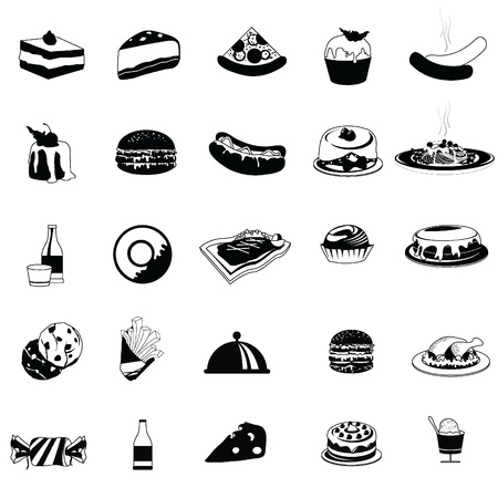 food icons for restaurant, dining, eatery and others Vector