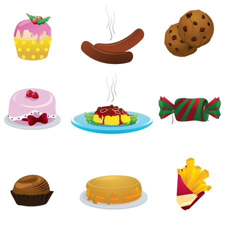 food icons for restaurant, dining, eatery and others Stock Vector - 13919120