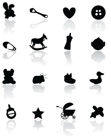 baby stuff for baby arrival, newborn, celebration and others Vector