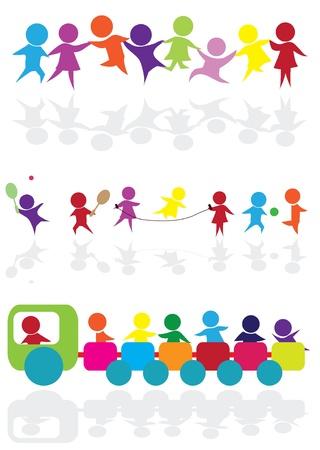 hold hand: sagome dei cartoni animati per l'attivit� dei bambini, divertimento e gioco