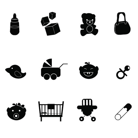 baby icons - for baby stuff, newborn, toddler and others Stock Vector - 14250124