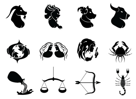 horoscope signs icons - for zodiac signs, and others