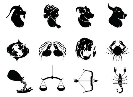 aries: signos del horóscopo - iconos para los signos del zodiaco, y otros