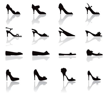 힐: 신발 아이콘 실루엣 - 쇼핑, 신발, 다른 사람을 위해