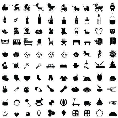 baby icons for baby stuff, newborn, toddler and others