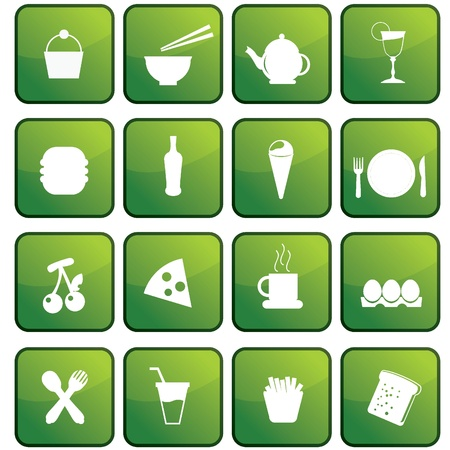 food stuff: food icons for food stuff, restaurant, and others Illustration
