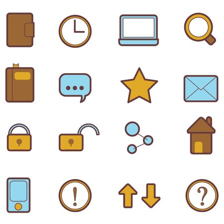 16 sets of web icons for websites and others Stock Vector - 14349093