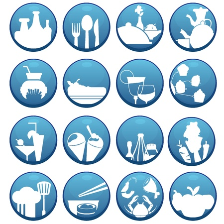food icons for food stuff, restaurant, and others Stock Vector - 14349144