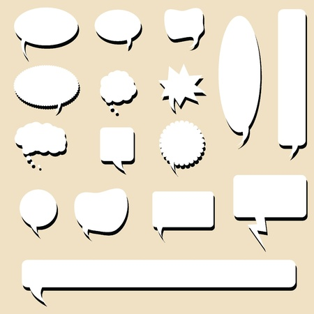 speech bubble icons for designs, buttons and web icons and others Stock Vector - 14349088