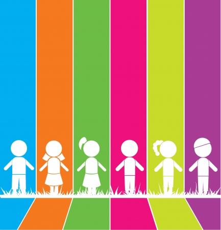 ni�os con pancarta: palos de chico, chica, para los ni�os, la escuela, estudio y otros