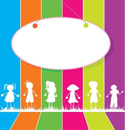 niños con pancarta: palos de chico, chica, para los niños, la escuela, estudio y otros