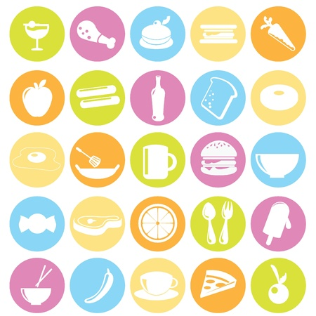 food icons for restaurant, dinner, items and others Vector