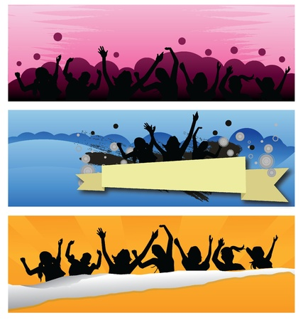 silhouettes kids jumping for children, fun, activity and others Vector