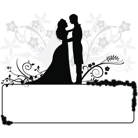 vőlegény: esküvői pár sziluettek esküvői, alkalmak, ünnepségek és más
