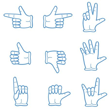 high five: six isolated types of hand gestures