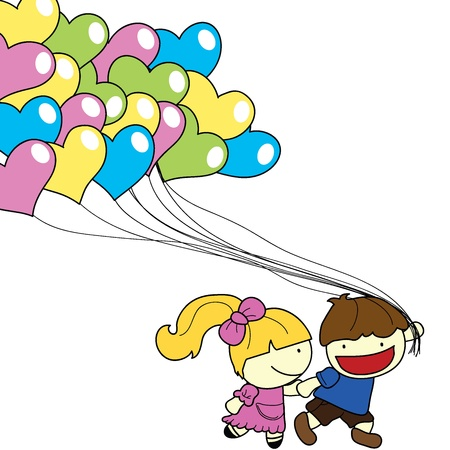 hyper: couple with balloons