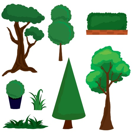 ozone friendly: isolated greens and trees for environments, nature and scenes backgrounds