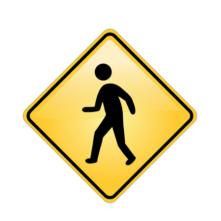 road signs and symbols with white background Illustration
