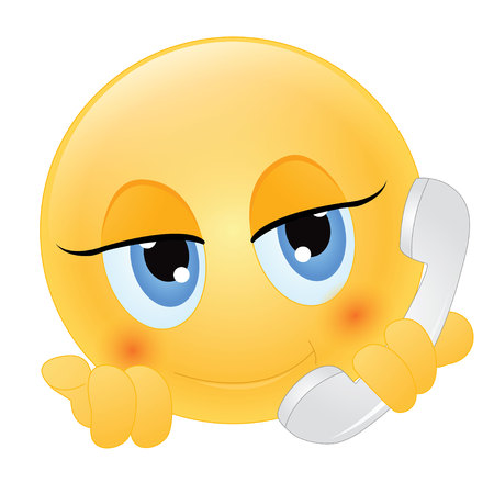 creative answers: emoticon talking on the phone