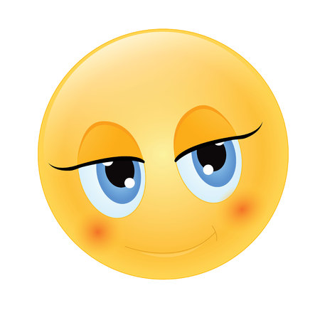 futuristic girl: cute emoticon