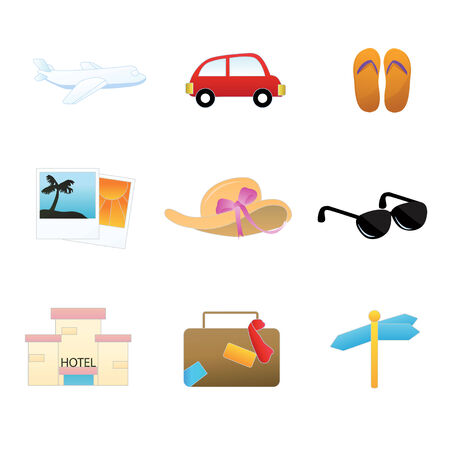 tree service pictures: a set of collection of simple travel icons
