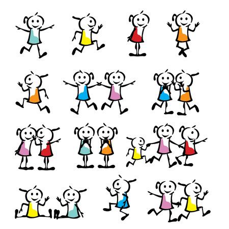 strichm�nnchen: ein Satz Sammlung von Kinder Strichm�nnchen