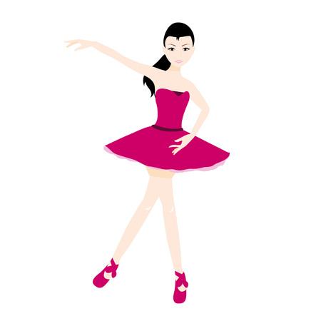 femine: cute pretty ballerina girl in holding a pose
