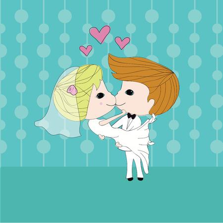 cute couple: cute couple Illustration