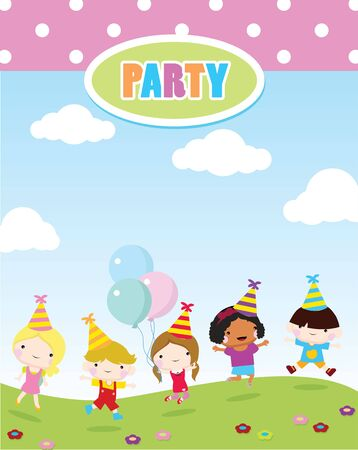 Children party invitations birthday party and celebration royalty children party invitations birthday party and celebration stock vector 50908256 stopboris Images