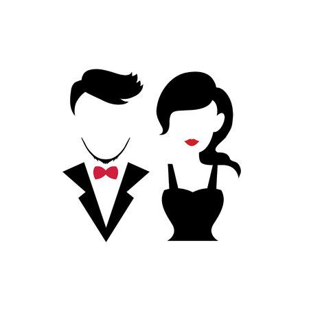 Silhouetten paar zum Valentinstag, Hochzeit und Romantik