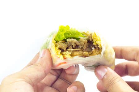 cuon: Vietnamese rice paper rolls with prawns