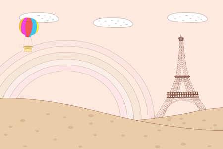 Cartoon images of  Paris photo