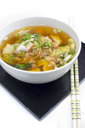ton:  Soup with sliced pork and dumplings