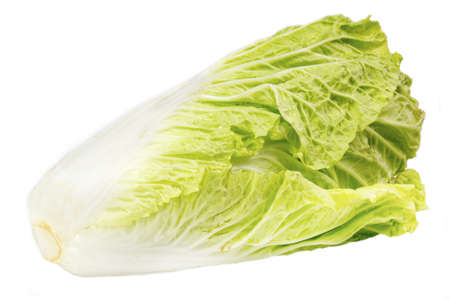 Romain Lettuce isolated on a white background photo