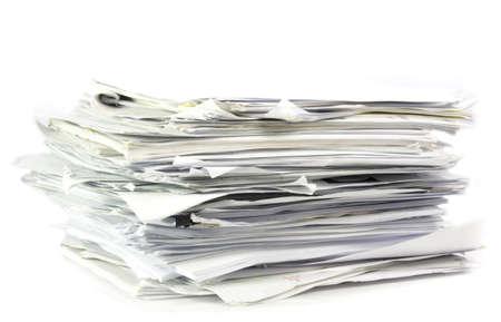 Opgestapeld kantoorwerk papers