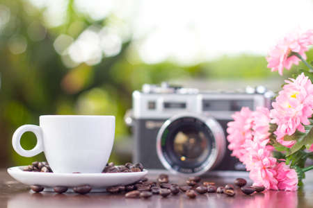 Beautiful coffee still life photo