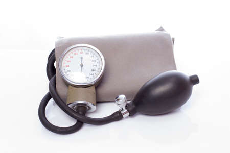 Sphygmomanometer isolated on white background photo