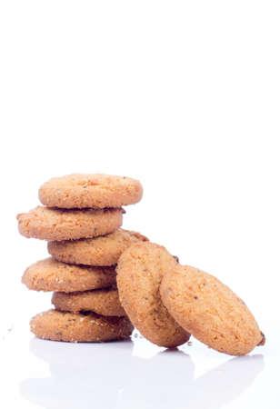 cikolatali: cookies isolated on white background