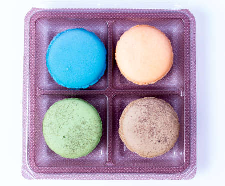 Tasty colorful macaroon photo