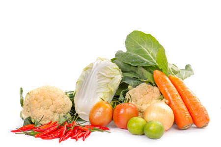 organic food background Vegetables in the basket photo